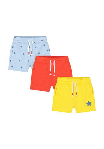 Mothercare   Boys Shorts Star Print - Pack Of 3 - Red Yellow Blue