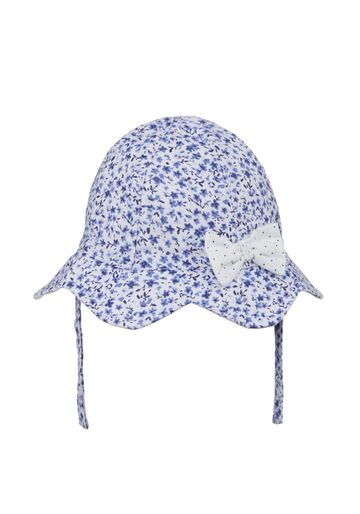 Mothercare   Girls Hat With Bow Floral Print - Blue