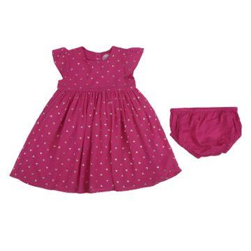 Mothercare   Girls Half sleeves Printed Dress - Pink