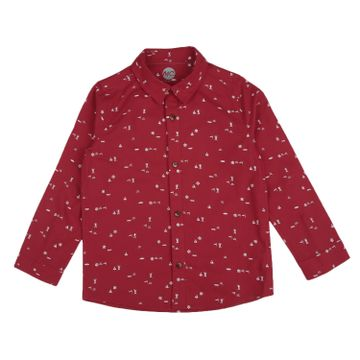Mothercare | Boys Half sleeves Printed Shirt - Red