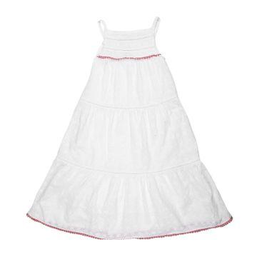 Mothercare   Girls Sleeveless Tiered Dress - White