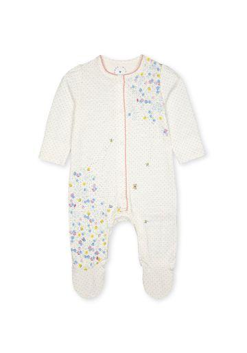 Mothercare   Girls Full Sleeves Romper Floral Print - White
