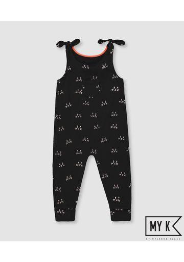 Mothercare | Girls Sleeveless Jumpsuits  - Black