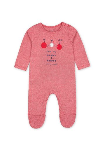 Mothercare | Girls Full Sleeves Rompers  - Pink
