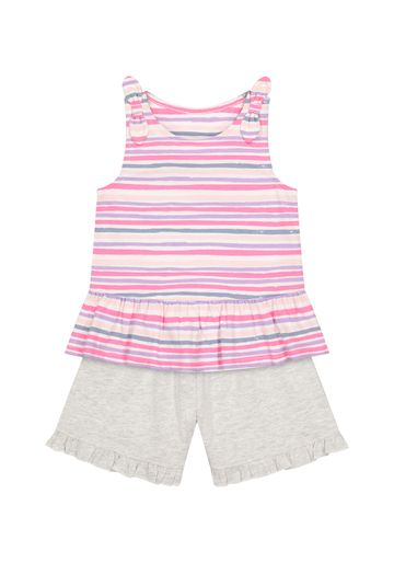 Mothercare   Girls Sleeveless Shorts Sets  - Pack Of 2 - Multicolor