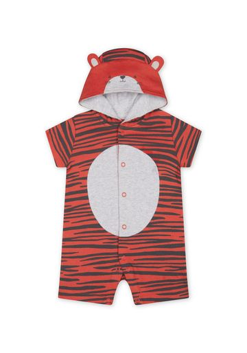 Mothercare | Boys Half Sleeves Embroidered And 3D Details Romper - Red