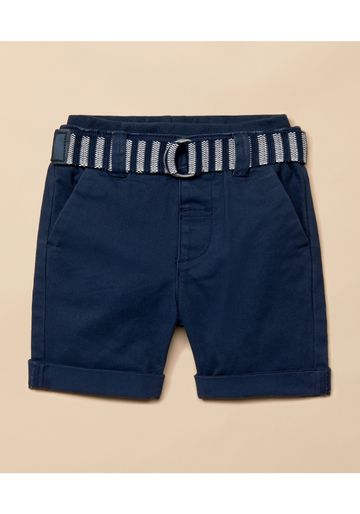 Mothercare | Boys Shorts With Belt - Navy