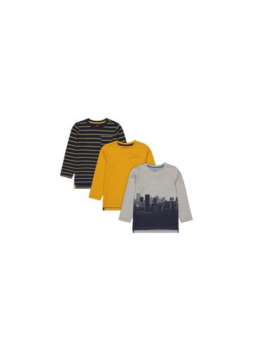 Mothercare | Boys Full Sleeves Round Neck T-shirts  - Pack Of 3 - Multicolor