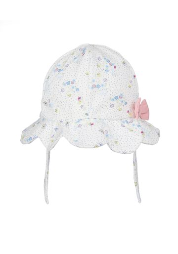 Mothercare | Girls Floral print bow Hat - White