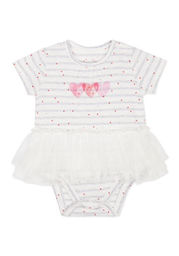 Mothercare   Girls Half sleeves Frock style Bodysuit - White