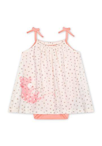 Mothercare | Girls Sleeveless Dress Leopard Print - White