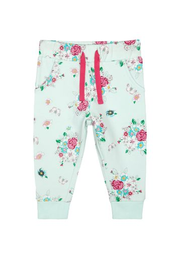 Mothercare   Girls Joggers Floral Print - White