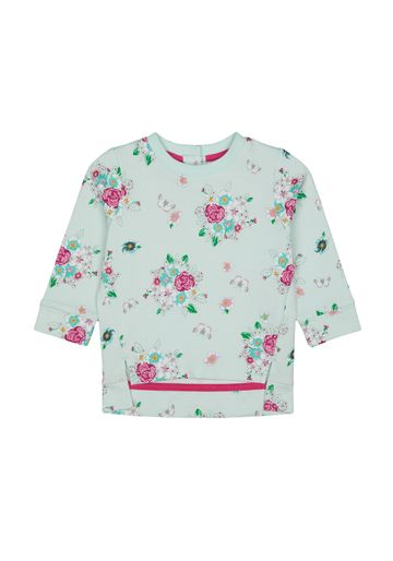 Mothercare   Girls Full Sleeves Sweatshirt Floral Print - Blue