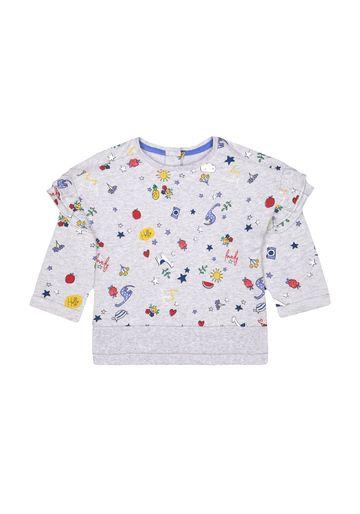 Mothercare | Girls Full Sleeves Sweatshirt Printed - Grey