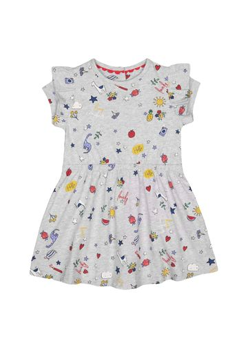 Mothercare | Girls Half Sleeves Dress Printed - Grey