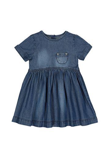 Mothercare | Girls Half Sleeves Denim Dress Pocket Detail - Blue