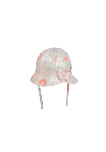 Mothercare | Girls Hat Printed Bow Detail - Pink