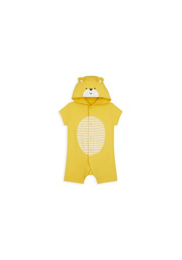 Mothercare | Boys Half Sleeves Romper 3D Details - Yellow