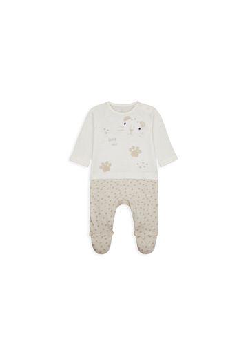 Mothercare   Unisex Full Sleeves Mock Romper Embroidered - White