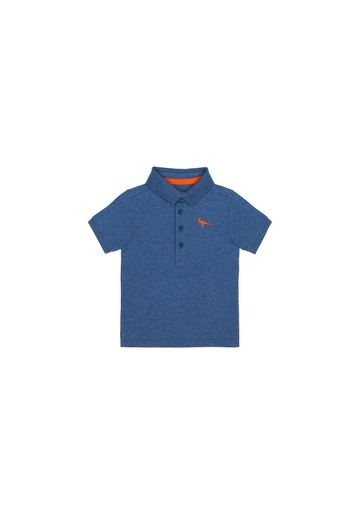 Mothercare | Boys Half Sleeves Polo T-Shirt Dino Embroidery - Navy