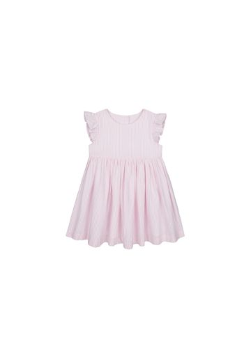 Mothercare | Girls Half Sleeves Woven Dress Striped - Pink