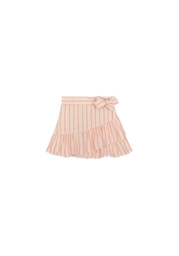 Mothercare   Girls Frilled Striped Skirt Bow Detail - Multicolor