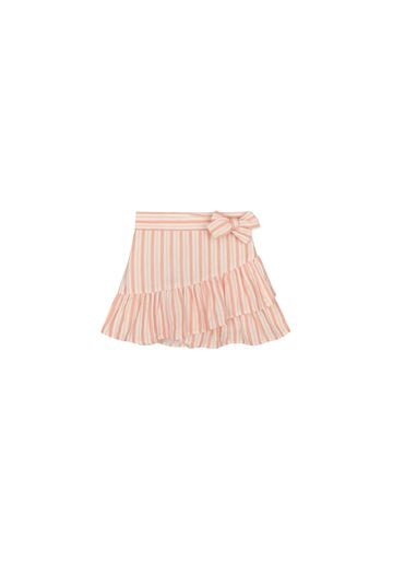 Mothercare | Girls Striped Skirt Bow Detail - White Pink