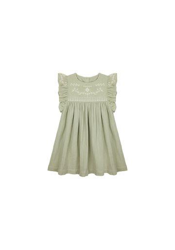 Mothercare | Girls Sleeveless Dress Embroidered - Khaki