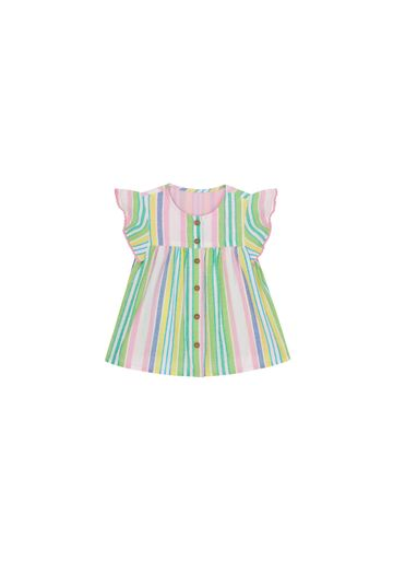 Mothercare | Girls Half Sleeves Flared Top Striped - Multicolor