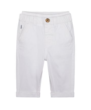 Mothercare   Boys Chino Trousers - White