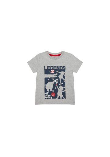 Mothercare | Boys Half Sleeves T-Shirt Text Print - Grey