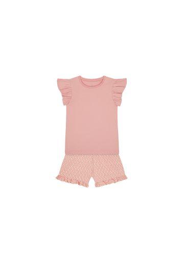 Mothercare | Girls Half Sleeves T-Shirt And Shorts Set Printed - Pink