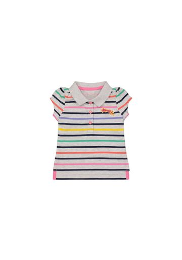 Mothercare | Girls Half Sleeves Polo T-Shirt Striped - Multicolor