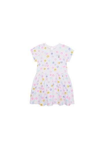Mothercare | Girls Half Sleeves Dress Printed - White