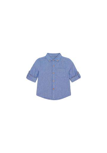 Mothercare   Boys Full Sleeves Oxford Shirt - Blue