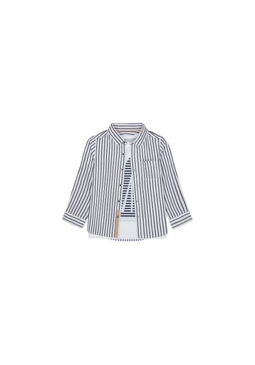 Mothercare   Boys Full Sleeves Shirt And Tee Set Striped - Navy White