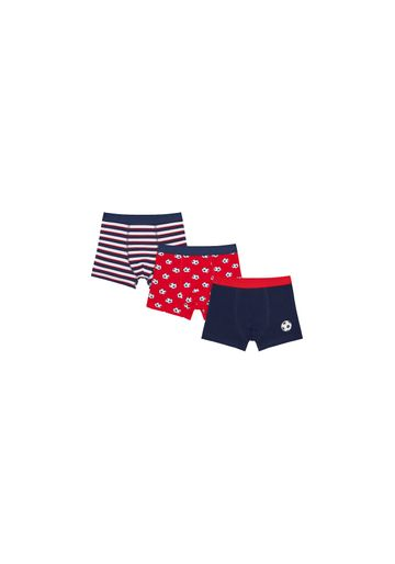 Mothercare | Boys Briefs Striped And Football Print - Pack Of 3 - Multicolor