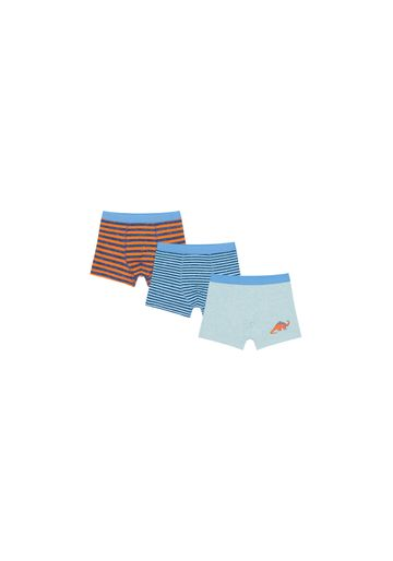 Mothercare | Boys Briefs Striped And Dino Print - Pack Of 3 - Multicolor