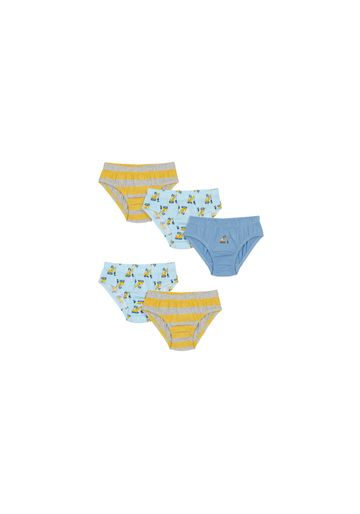 Mothercare | Boys Briefs Striped And Printed - Pack Of 5 - Multicolor