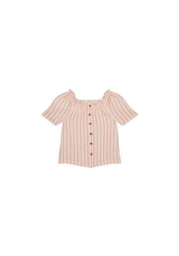 Mothercare | Girls Half Sleeves Top Striped - Pink