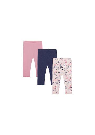 Mothercare | Girls Leggings Printed - Pack Of 3 - Multicolor