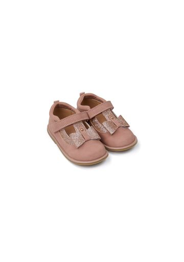 Mothercare | Girls First Walker Shoes Glitter Bow Detail - Pink