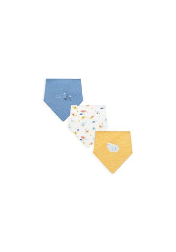 Mothercare   Boys Bibs Dino Print - Pack Of 3 - Multicolor