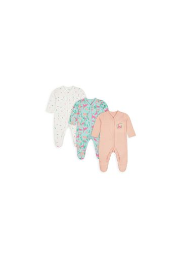 Mothercare | Boys Full Sleeves Sleepsuit Dino Print - Pack Of 3 - Multicolor