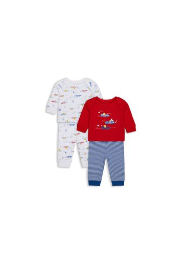 Mothercare | Boys Full Sleeves Pyjama Set Car Patchwork - Pack Of 2 - Multicolor