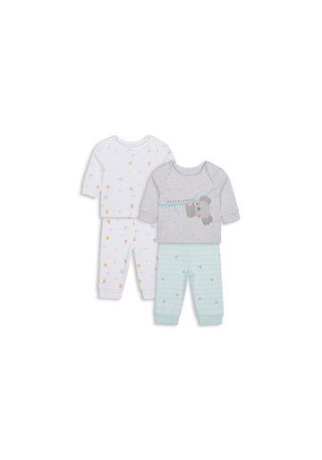 Mothercare | Unisex Full Sleeves Pyjama Set Koala Print - Pack Of 2 - Multicolor