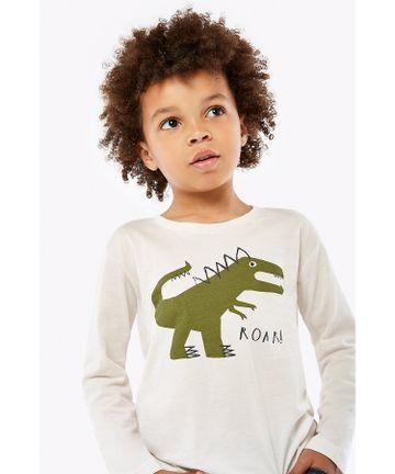 Mothercare   Boys Full Sleeves T-Shirt Dino Print - White