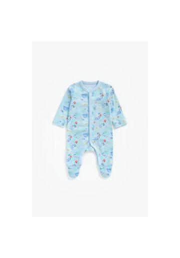Mothercare | Boys Full Sleeves Romper Dino Print - Blue