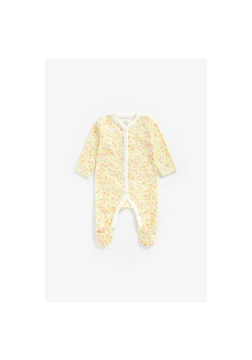 Mothercare | Girls Full Sleeves Romper Floral Print - Yellow
