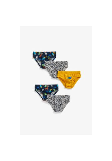 Mothercare | Boys Briefs Animal Print - Pack Of 5 - Multicolor